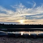 Sunset over Sand Lake