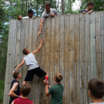 Challenge course wall